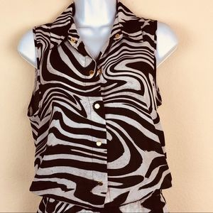Michael Kors | Animal Print Sleeveless Romper
